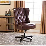 ABBYSON LIVING Maxwell Light Brown Leather Office Chair