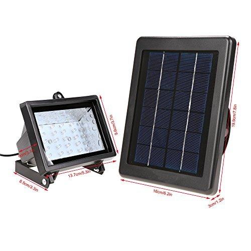 7-LED Solar Power RGB Garten Lampe Rasen Landschaftsbild Licht Leuchte Strahler