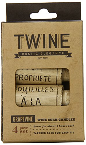 Grapevine Wine Cork Candles by - Wine Basket Northwest