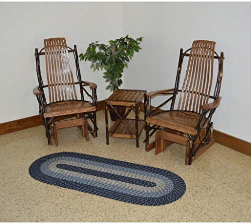 - A & L Furniture Co. Amish Bentwood Hickory Glider Rockers and End Table Set - Ships Free in 5-7 Business Days