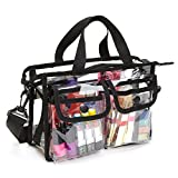 Clear PVC Cosmetic Bags Transparent Handbag With Removable and Adjustable Shoulder Strap
