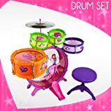 8pc-Kids-Boy-Girl-Drum-Set-Musical-Instrument-Toy-Princess-Playset