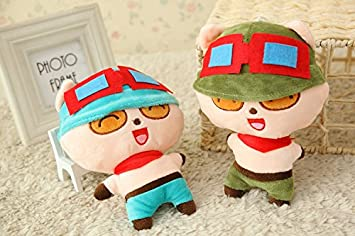 Aliexpress new 18CM 2 colors League online LOL Timo plush toys wholesale lovely pp cotton soft