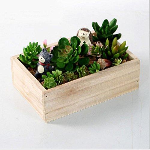 Wood Flower Plants Box Pot - 3