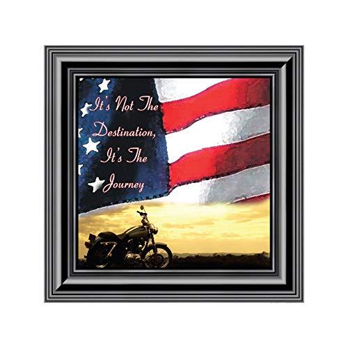 Elegantly Yours Marco de Fotos con la Bandera y el Cielo de It's Not The Destination, para Harley Davidson Bike, 10 x 10...