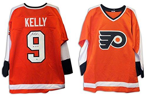 Hounds Orange (Bob Kelly Philadelphia Flyers Autographed Orange Jersey Inscribed