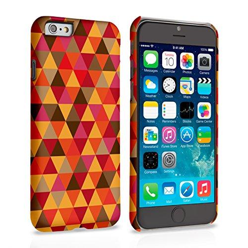 Caseflex iPhone 6 / 6S Hülle Rot / Orange Geometrisch Dreiecke Muster Hart Schutzhülle
