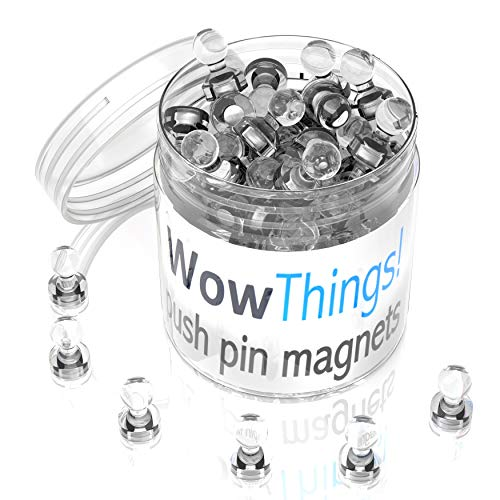 28 Clear Magnetic Push Pin Magnets Set - Kitchen Fridge Magnets Clips - Small Refrigerator Magnets Strong for Notes, Pictures, Home Office Decor, Magnetic Whiteboard Magnets, Supplies Teacher Magnets (Chess Fridge Magnets)