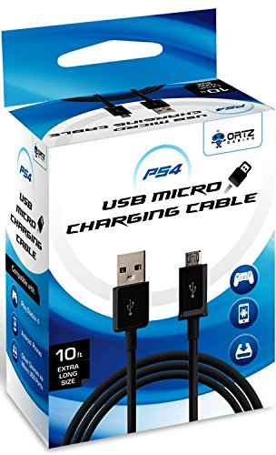 10 Feet Micro USB Charging Cable for PS4/Xbox Controller - Hi-Speed Micro USB 2.0 - A Male to Micro B - 10 Feet