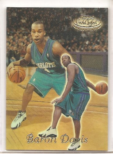 9775fcc92ea Image Unavailable. Image not available for. Color: Baron Davis 1999-00  Topps Gold Label Class 1 Charlotte Hornets ...