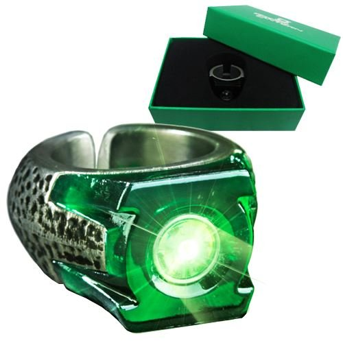 Green Lantern Light-Up Ring (Green Lantern Costumes Ring)