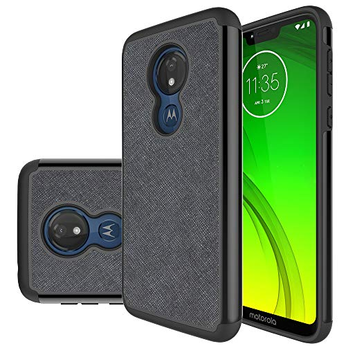 Slinco Moto G7 Power Case,Motorola G7 Power Case Moto G7 Supra Case Durable Armor and Resilient Shock Absorption Case for Motorola Moto G7 Power/Moto G7 Supra (Black)