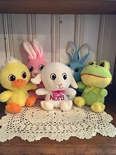 511kNTNmhfL - Adorable Personalized | Small Easter Plush | Big Head Animal | Stuffed Toy
