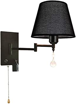 Modernluci Wall Lamp Plug in Wall Lights Bedroom Sconce E27 Dark Grey