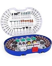 WORKPRO Multifunctioneel gereedschap accessoireset draaigereedschap 276-dlg. Multifunctionele accessoireset voor snijden, slijpen, polijsten, boren en graveren