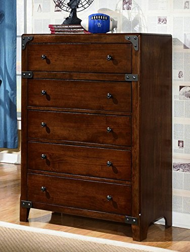 Ashley Furniture Signature Design - Delburne Chest of Drawers - 5 Drawers - Casual Youth - Medium Brown