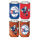 WinCraft NBA Philadelphia 76ers 2 PACK 12 oz. 2-Sided Can Coolers