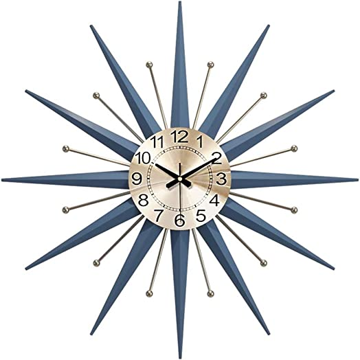 Mid-Century Metal Wall Clock