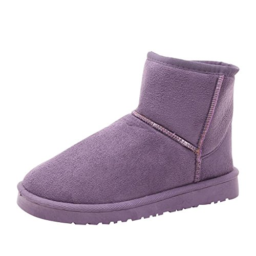 Boots Resistant Fur Skid Warm Optimal Purple Snow Ankle Lined Women's Fully Boots Winter c wnTzxTqfPB