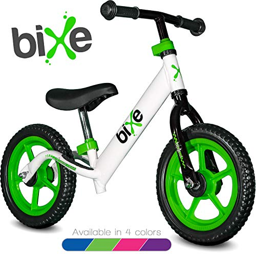 Green (4LBS) Aluminum Balance Bike for Kids and Toddlers - 12