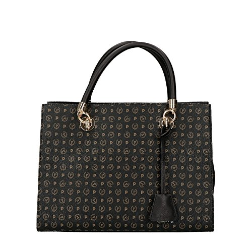Pollini Heritage Tapiro shopping bag black