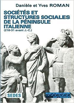 Como Descargar En Mejortorrent Societes Et Structures Sociales De La Peninsule Italienne - 218-31 Avant J.-c Formato PDF