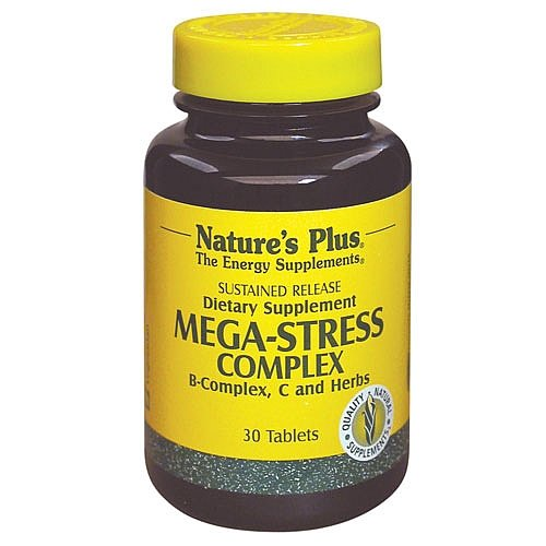 Cheap Natures Plus Mega-Stress Complex – 60 Vegetarian Tablets, Sustained Release – B Complex, Vitamin C Stress Relief Supplement, Chamomile and Herbs for Natural Calm – Gluten Free – 60 Servings