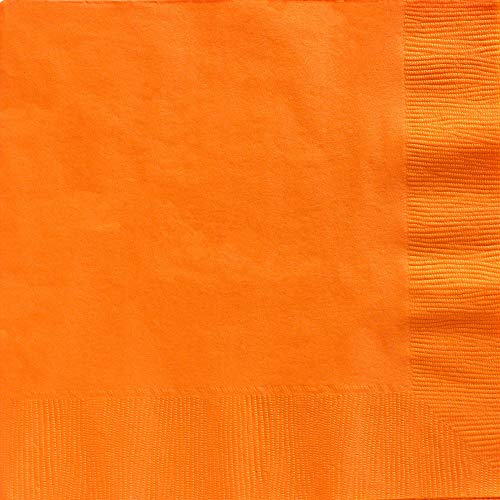 Big Party Pack 2-Ply Dinner Napkins | Orange Peel | Pack of 50 | Party Supply