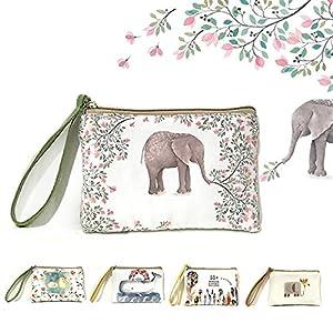 Rantanto Cute Canvas Cash Coin Purse, Make Up Bag, Cellphone Bag With Handle