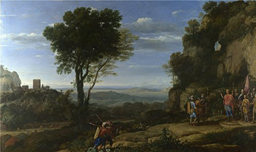 [Oil Painting 'Claude - Landscape With David At The Cave Of Adullam,1658' 16 x 27 inch / 41 x 69 cm , on High Definition HD canvas prints is for Gifts And Garage, Gym And Study Room Decoration,] (Diy Snow Globe Costume)