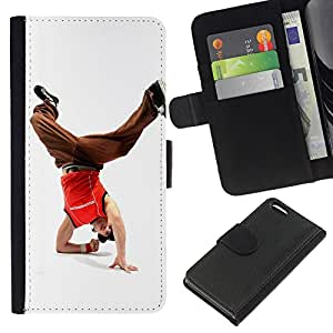All Phone Most Case / Oferta Especial Cáscara Funda de cuero Monedero Cubierta de proteccion Caso / Wallet Case for Apple Iphone 5C // Design Break Dancer Man