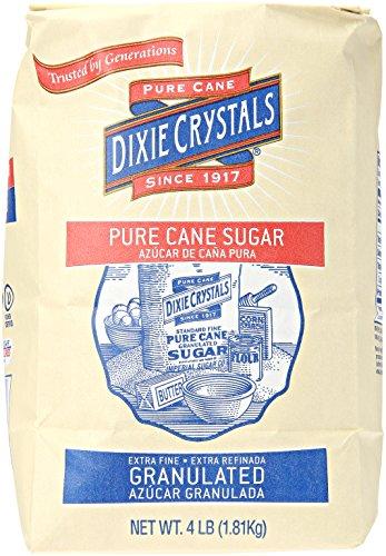 Crystal Cane Sugar - Imperial Sugar Dixie Crystals Pure Cane Sugar, 4 lb