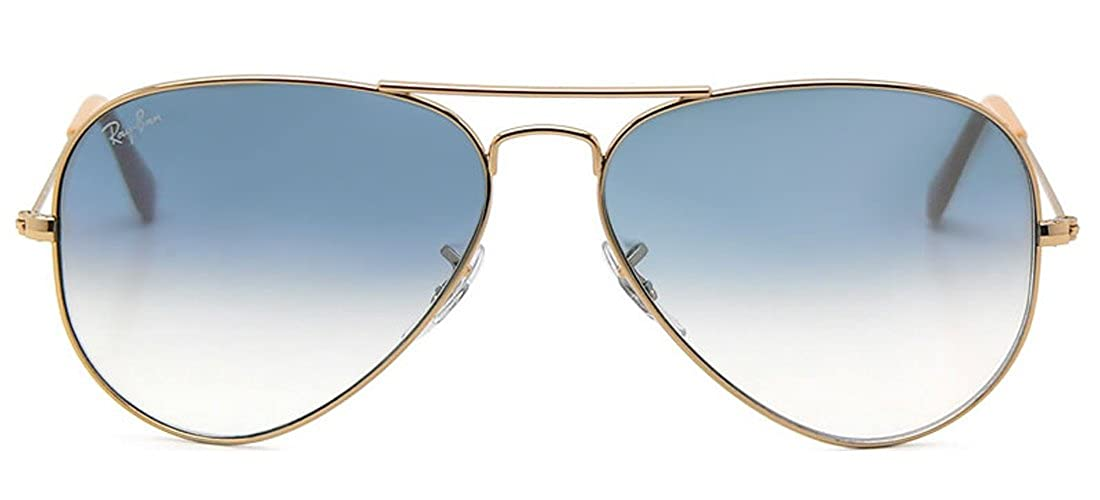 d24b233f001a6 Amazon.com  Ray-Ban AVIATOR GRADIENT 58mm Gold Light Blue Gradient  Sunglasses  Shoes