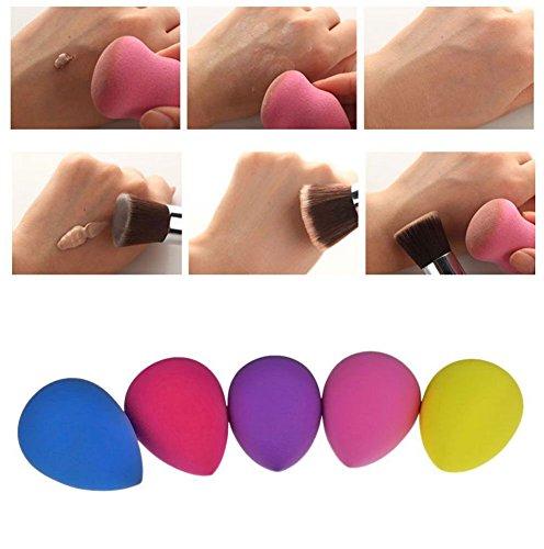 Leegoal Pro Beauty Makeup Sponge Blender Flawless Smooth Shaped Water Droplets Puff (Random Color)