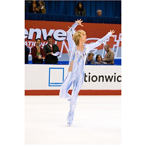 [Blades of Glory Jon Heder as Jimmy MacElroy in ice blue costume on ice 8 x 10 Inch Photo] (Will Ferrell Semi Pro Costume)