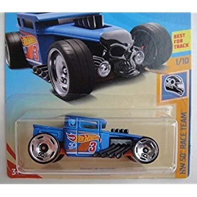 Hot Wheels HW 50 RACE TEAM 1/10, BLUE BONE SHAKER 258/365: Toys & Games