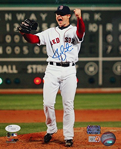 Jon Lester Signed Photo - 8x10 Vertical Cheering - JSA Certified - Autographed MLB ()
