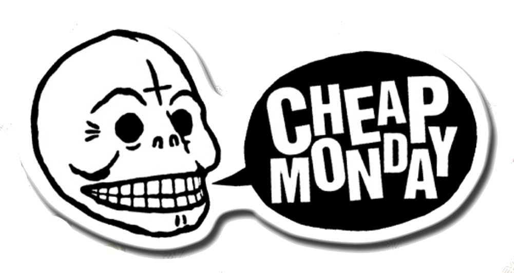 Amazon com cheap monday skull jeans brand logo classic original decal stickers everything else