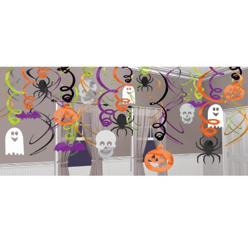 Amscan International 679468 Decorating Hanging Swirl Halloween Party Set ()