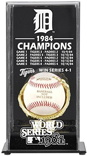1984 World Series Champs - 1984 Detroit Tigers World Series Champs Display Case