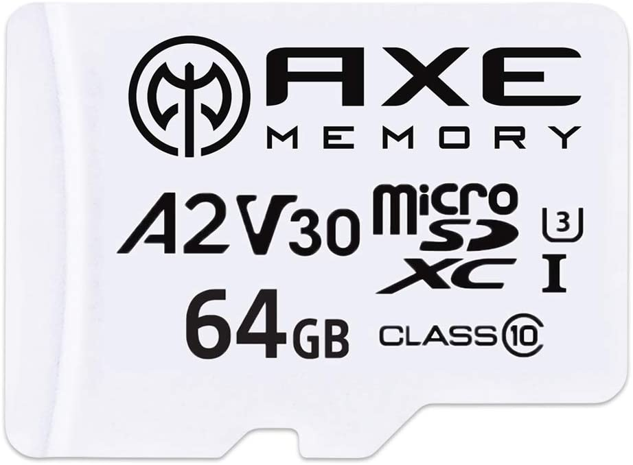 Axe 64gb Microsdxc Memory Card Sd Adapter With A2 App Computers Accessories