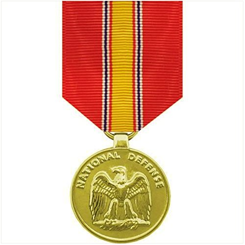 Vanguard FULL SIZE MEDAL: NATIONAL DEFENSE - 24K GOLD PLATED