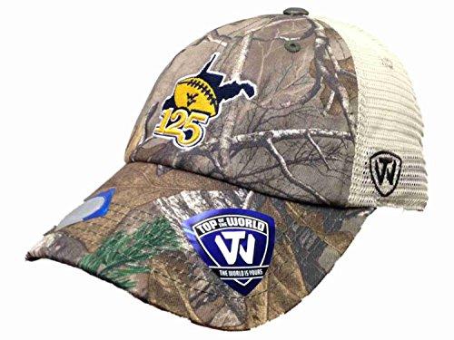 Football Mesh Cap (Top of the World NCAA-West Virginia Mountaineers-125 Years of Football-Mesh Adjustable Hat Cap-West Virginia Mountaineers-Realtree Camo)