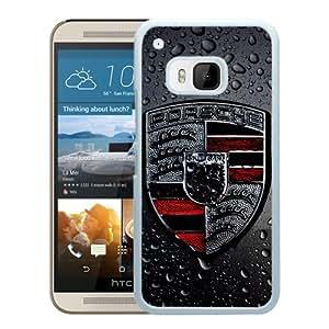 Popular Custom Designed Case For HTC ONE M9 With Porsche logo 2 White Phone Case
