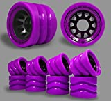 Shark Wheel 58mm Derby Quad Skate Wheels (95a Indoor-8 Wheels) in Purple