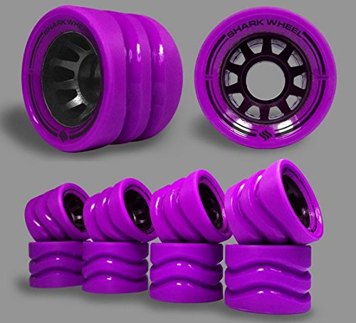 Shark Wheel 58mm Derby Quad Skate Wheels (95a Indoor-8 wheels) in Purple by Shark Wheel