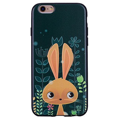 Color de la funda suave de TPU para iPhone 6s Plus / iPhone 6 Plus ( PATTERN : Rabbit ) Rabbit