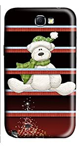 Samsung Note 2 Case Christmas Shelves and Bear133 3D Custom Samsung Note 2 Case Cover