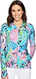 Lilly Pulitzer Women's Luxletic Serena Jacket Seaside Aqua Let's Cha Cha Medium