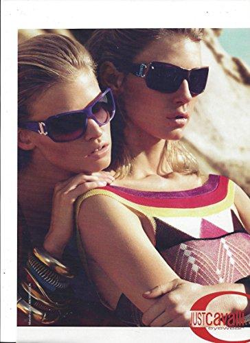 MAGAZINE ADVERTISEMENT For Just Cavalli Eyewear JC Frame Two Girl - Scene Eyewear